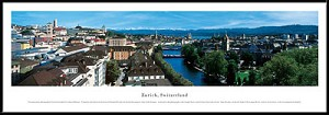 Zurich, Switzerland Framed Skyline Picture