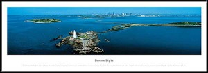 Boston Light, Massachusetts Framed Skyline Picture