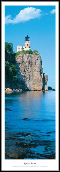 Split Rock Lighthouse Framed Skyline Picture 1