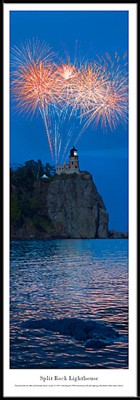 Split Rock Lighthouse Framed Skyline Picture 2