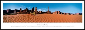 Monument Valley Framed Skyline Picture