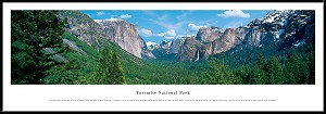 Yosemite National Park Framed Skyline Picture