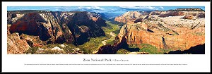 Zion National Park Framed Skyline Picture 2
