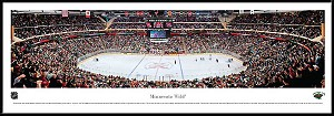 Minnesota Wild Framed Arena Picture