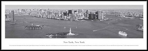 New York, New York Black and White Framed Skyline Picture 9