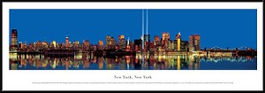 New York, New York Framed Skyline Picture 11
