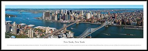 New York, New York Framed Skyline Picture 13