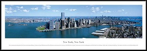 New York, New York Framed Skyline Picture