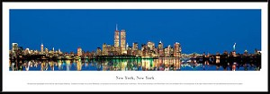 New York, New York Framed Skyline Picture 2