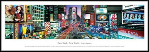 New York - Times Square Framed Skyline Picture