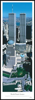 World Trade Center Framed Skyline Picture