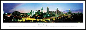 Atlanta, Georgia Framed Skyline Picture 6