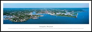 Annapolis, Maryland Framed Skyline Picture