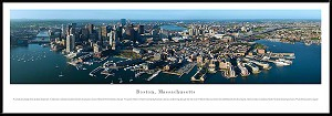 Boston, Massachusetts Framed Skyline Picture 5