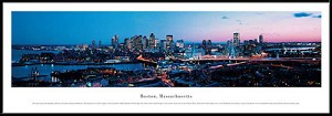 Boston, Massachusetts Framed Skyline Picture 4