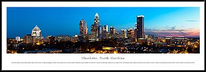 Charlotte, North Carolina Framed Skyline Picture 3