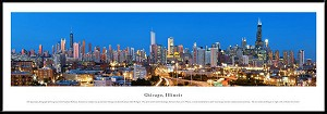 Chicago, Illinois Framed Skyline Picture 11