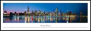 Chicago, Illinois Framed Skyline Picture 9