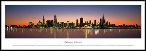 Chicago, Illinois Framed Skyline Picture 2