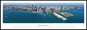 Chicago, Illinois Framed Skyline Picture 10