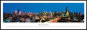 Chicago, Illinois Framed Skyline Picture 7