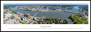 Cincinnati, Ohio Framed Skyline Picture 4
