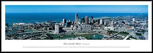 Cleveland, Ohio Framed Skyline Picture 2
