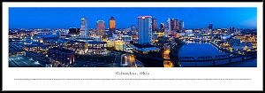 Columbus, Ohio Framed Skyline Picture 2
