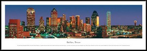 Dallas, Texas Framed Skyline Picture 1a