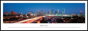 Dallas, Texas Framed Skyline Picture 1b