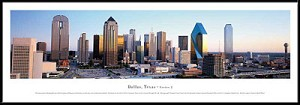 Dallas, Texas Framed Skyline Picture 2