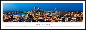 Kansas City, Missouri Framed Skyline Picture 4
