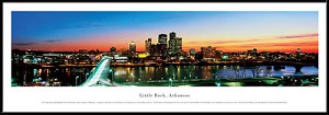 Little Rock, Arkansas Framed Skyline Picture