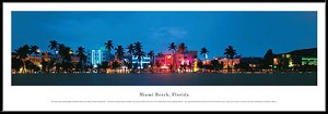 Miami Beach, Florida Framed Skyline Picture