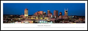 Nashville, Tennessee Framed Skyline Picture