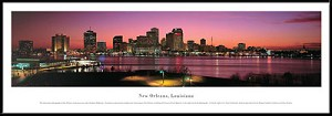 New Orleans, Louisiana Framed Skyline Picture 1