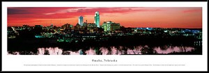 Omaha, Nebraska Framed Skyline Picture