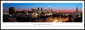 Philadelphia, Pennsylvania Framed Skyline Picture 5