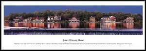 Philadelphia, Pennsylvania Boat House Row Framed Skyline Picture 1