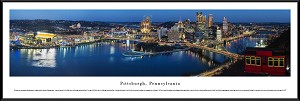 Pittsburgh, Pennsylvania Framed Skyline Picture 4