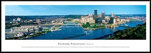 Pittsburgh, Pennsylvania Framed Skyline Picture 2