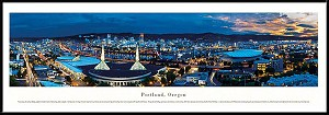 Portland, Oregon Framed Skyline Picture