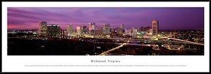 Richmond, Virginia Framed Skyline Picture