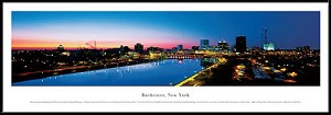 Rochester, New York Framed Skyline Picture