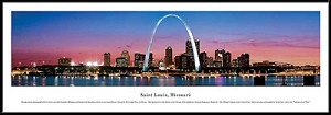 St. Louis, Missouri Framed Skyline Picture 3