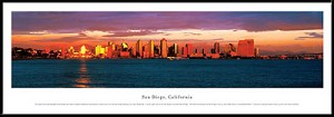 San Diego, California Framed Skyline Picture 4