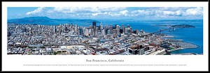 San Francisco, California Framed Skyline Picture 1