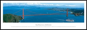 San Francisco, California Golden Gate Bridge Framed Skyline Picture 3