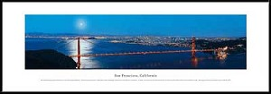 San Francisco, California Framed Skyline Picture 5