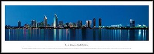 San Diego,California Framed Skyline Picture 3